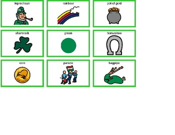 St. Patrick's Day Bingo! Single Board [speech therapy and autism]