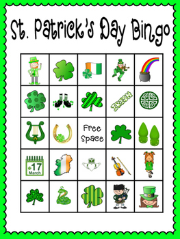image relating to St Patrick's Day Bingo Printable known as St. Patricks Working day Bingo (30 extensively alternative playing cards contacting playing cards bundled)