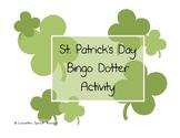 St. Patrick's Day Bingo Dotter Articulation Activity