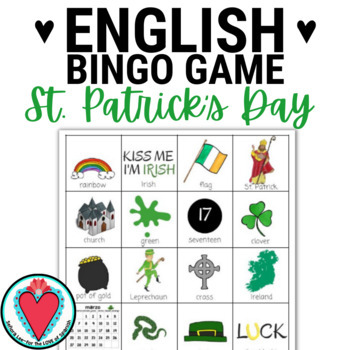 St. Patrick's Day Bingo - English Version