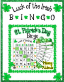 St. Patrick's Day Bingo Fun with Missing Addends Math for 1st 2nd 3rd Grades