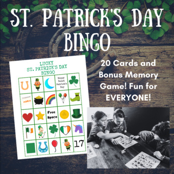 St. Patrick's Day Bingo Game - 20 Cards