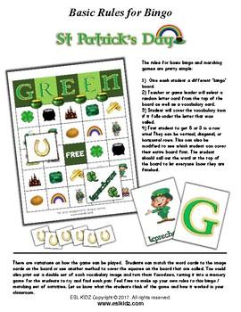St Patrick's Day Bingo / Matching Activities