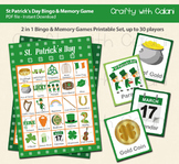 St Patrick's Day Bingo & Memory Game, St Patick's Day Printable Bingo & Memory