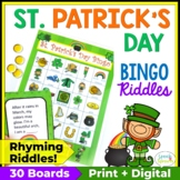 St. Patrick's Day Bingo Riddles Game
