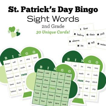 St. Patrick's Day Bingo - Sight Words - Second Grade