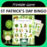 St Patrick's Day Bingo - St Patrick Paddys Bingo Game Preschool & K-2 kids