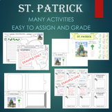St. Patrick's Day Biography Graphic Organizer Flipbook Journal Research BUNDLE