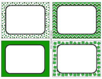St. Patrick's Day Blank Task Cards