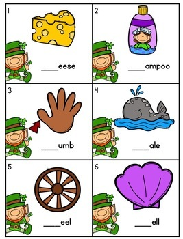 St. Patrick's Day Blends and Digraphs