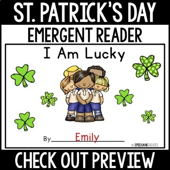 "St. Patrick's Day Emergent Reader-""I am Lucky"""