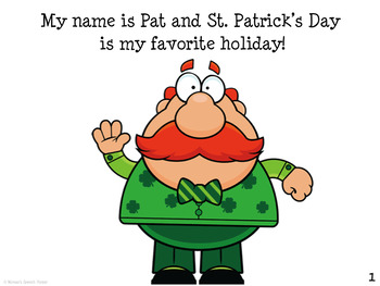 St. Patrick's Day EARLY READER RHYME  Literacy Circle