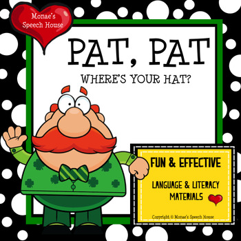St. Patrick's Day EARLY READER RHYME  Literacy Circle PRE-K  Speech Therapy