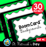 St. Patrick's Day Boom Card™ Background Borders (Clipart) Set #1