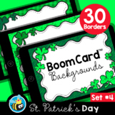 St. Patrick's Day Boom Card™ Background Borders (Clipart) Set #4