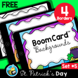 St. Patrick's Day Boom Card™ Background Borders (Clipart) Set #5
