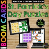 St. Patrick's Day Boom Cards™ Math Puzzles Digital Learning Mystery Pictures
