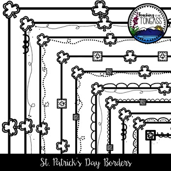 St. Patrick's Day Borders Clipart