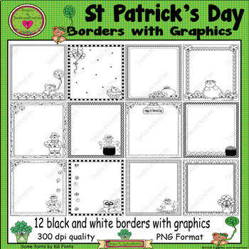 St Patrick's Day Borders with Graphics