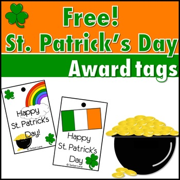 Free St Patrick's Day Brag Tags for Classroom Rewards and Motivation