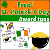 Free St Patrick's Day Award Tags for Classroom Rewards and Motivation