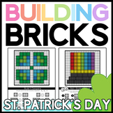 St. Patrick's Day Brick Building Mats: Math & Reading Activities