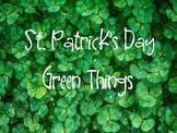 St. Patrick's Day Brilliant Green Pictures and Vocabulary