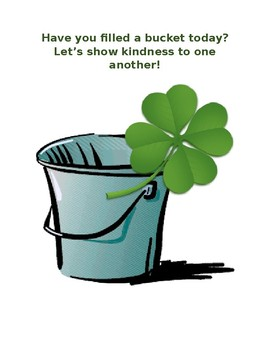 St. Patrick's Day Bucket Fillers