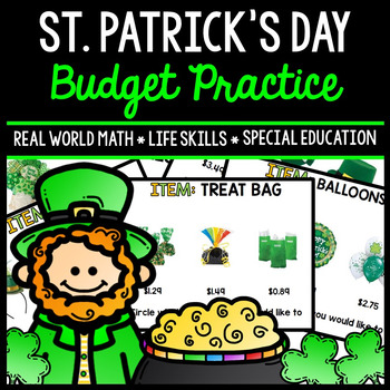 St. Patrick's Day Budget - Special Education - Shopping - Life Skills - Money