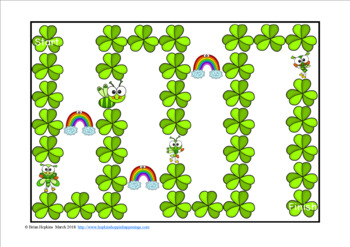St. Patrick's Day Bugs Sight Word Fluency Phrases Race