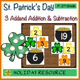 St. Patrick's Day Build 3 Addend Addition & Subtraction Number Sentences