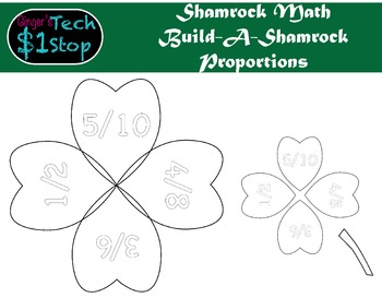 St. Patrick's Day * Build-a-4LeafClover * Shamrock Math *
