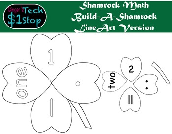 St. Patrick's Day * Build-a-FourLeafClover * Shamrock Math * Puzzle * Line Art