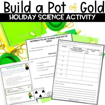 St. Patrick's Day Build a Pot of Gold STEM Activity