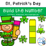 St. Patrick's Day Build the Number - Pre-K, Preschool, and