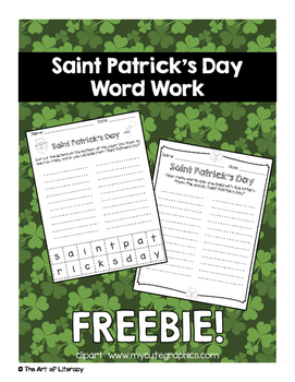 St. Patrick's Day Building Words FREEBIE!
