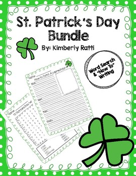 "St. Patrick's Day Word Search & ""How To"" Writing"