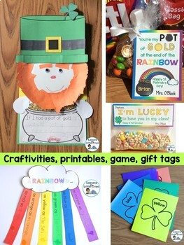 St. Patrick's Day Bundle: Crafts, PowerPoint, Math, Science, Language Arts, Tags