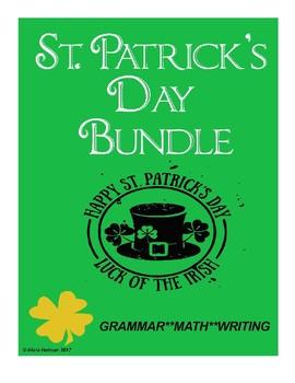 St. Patrick's Day Bundle: Grammar, Writing, Math