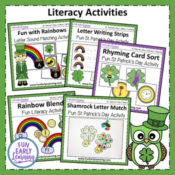 St. Patrick's Day Bundle - Letters, Numbers, Sounds, Writing, Clipart, Art