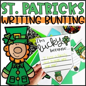 St. Patrick's Day Bunting Banner | I am lucky because...