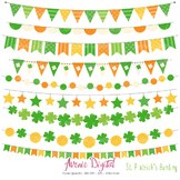 St. Patrick's Day Bunting Banner Clipart Scrapbook Vector St Paddy's Day