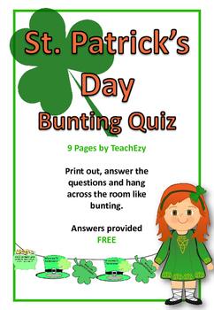 St Patrick's Day Bunting Quiz