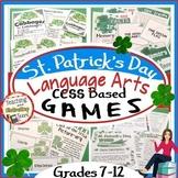St. Patrick's Day Games Mini-Bundle, CCSS-Based ELA Middle & High School