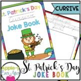 St. Patrick's Day CURSIVE Practice Joke Book