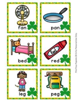 St Patrick's Day CVC Rhyming Words Match Game
