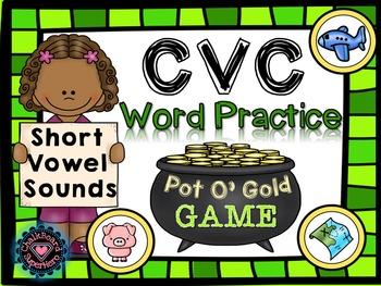 St Patrick's Day: CVC Short Vowel Sound Sorting Game