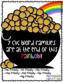 St. Patrick's Day CVC Word Family Activity