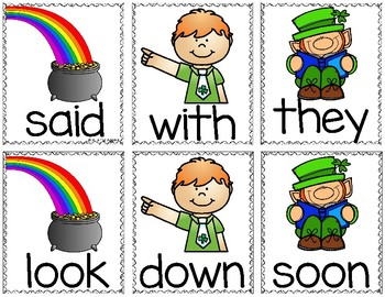 St. Patrick's Day Sight Word & CVC Word Games (Editable)