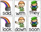 St. Patrick's Day Sight Word & CVC Word Games (Editable)